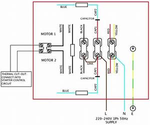 Dayton Model 9k457 A C  Induction Motor Wiring Diagram