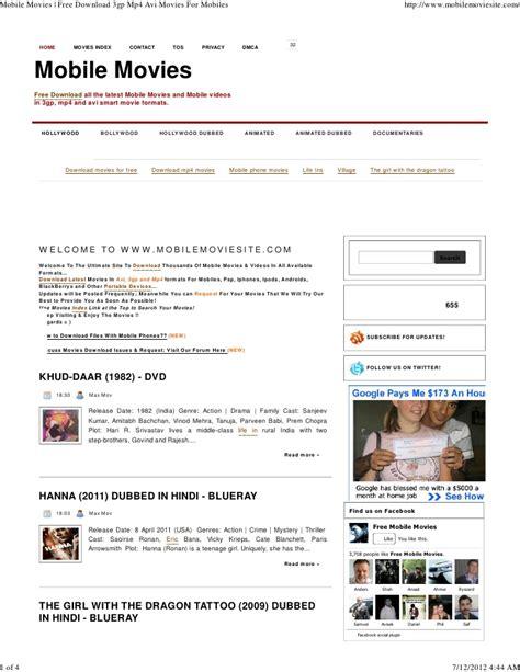 Mobile Mp4 by Mobilemoviesite Free Mp4 Avi For