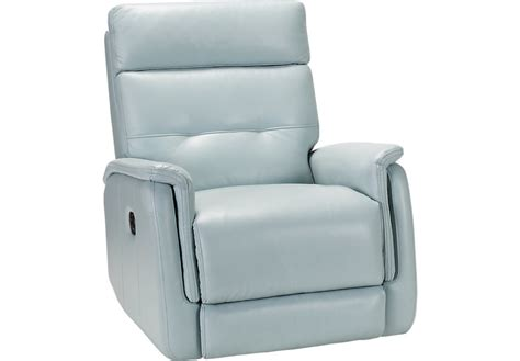 rooms to go leather recliner home adelino aqua leather recliner