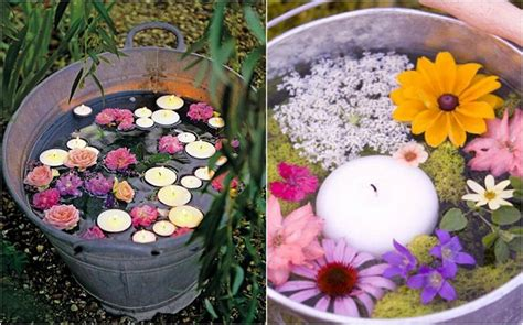 floating candles 21 table decoration ideas for a summer garden