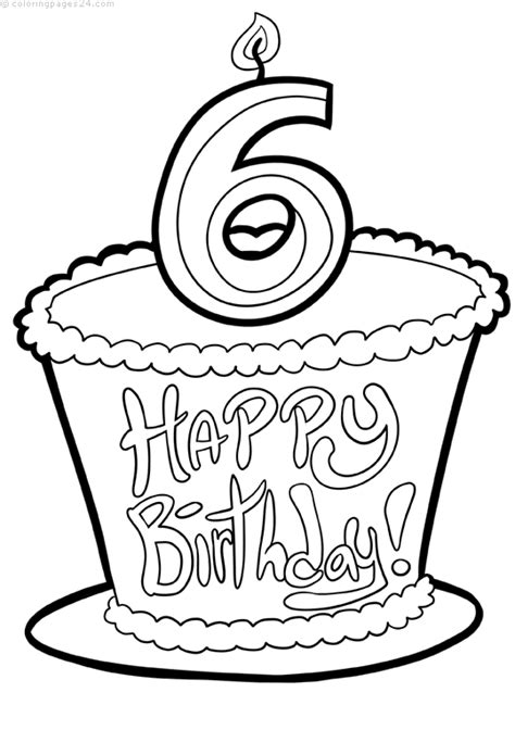 Cumpleaños 19 Dibujos para Colorear 24