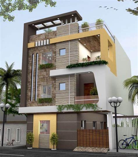modern three stories building exterior