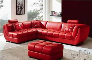 louella cherry red leather sectional sofa With red leather sectional sofa contemporary