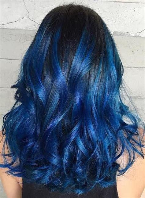 The 25 Best Blue Hair Highlights Ideas On Pinterest