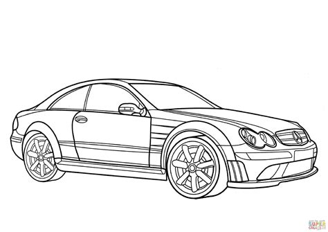 Mercedes Clk Class Coloring Page