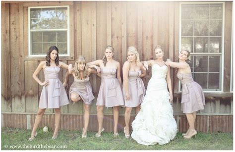 fun bridesmaid poses   bird  bear photography