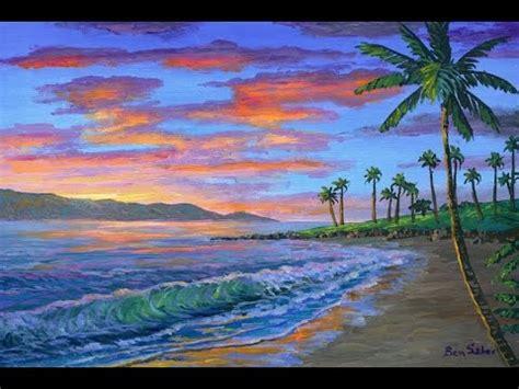comment peindre a l acrylique sur toile comment peindre coucher soleil complet cours acrylique sur toile par artiste peintre funnydog tv