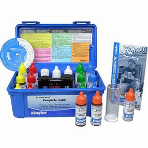 Pool Water Test Color Chart Taylor Complete 2005 Swimming Pool Water Test Kit K 2005