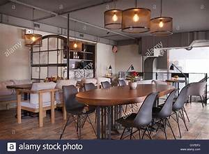 Modern european cafe interior in downtown Stock Photo ...