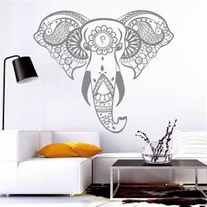 Wandtattoo Elefant Kinderzimmer : 10820 wandtattoo loft aufkleber indischer elefant asiatisch elephant asia tier ebay ~ Sanjose-hotels-ca.com Haus und Dekorationen