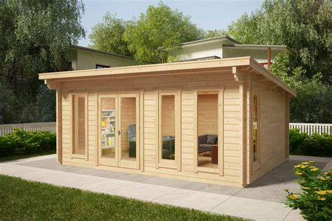 Gartenhaus Mit Pultdach Barbados 21m²  44mm 6x4