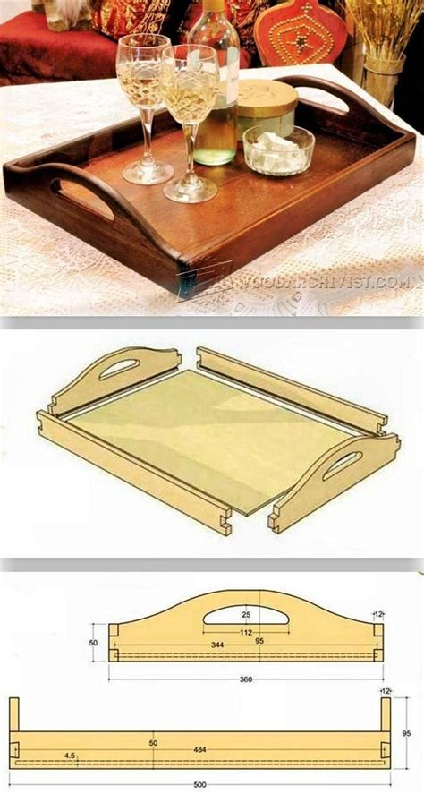 diy butler tray woodworking plans  projects woodarchivistcom wood crafts woodworking