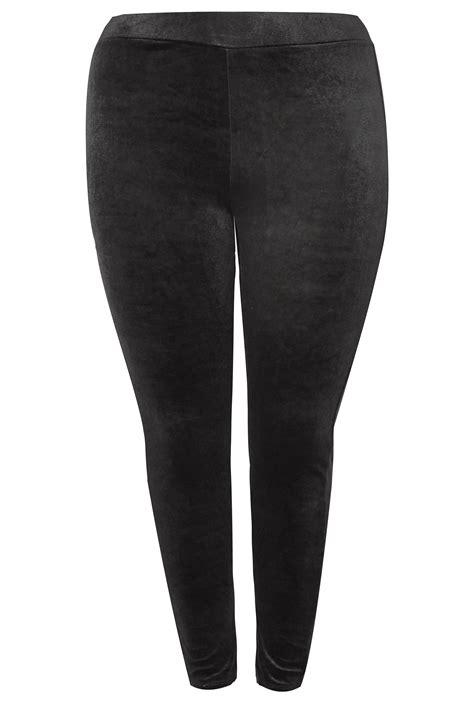 legging noir en velours grande taille 44 224 64