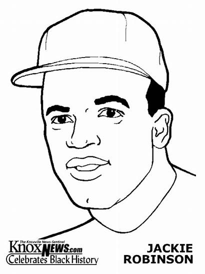Jackie Robinson Coloring Pages Sportspeople