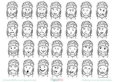 gesichter malen für kinder mit malvorlage gesichter zeichnen lernen ein