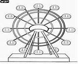 Ferris Coloring Wheel Drawing Fair Yahoo Wheels Ride Draw Pages Circus sketch template