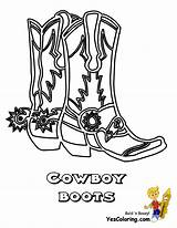 Cowboy Coloring Boots Boot Pages Drawing Cowgirl Boys Western Yescoloring Colouring Line Cowboys America Printable Ride Hat Draw Gifs Em sketch template
