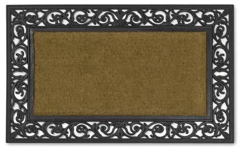rubber scroll doormat rubber scroll coir doormats