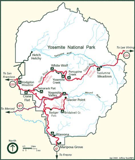 map of yosemite national park we stayed on wawona but