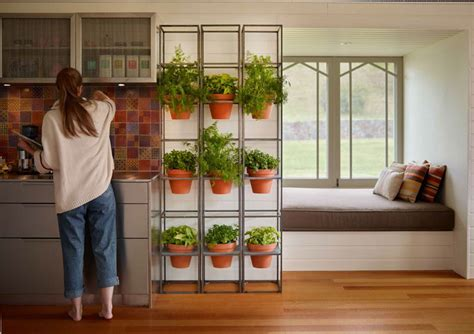 Vertical Herb Garden In Your Kitchen an easy way to create a vertical grid garden in your home