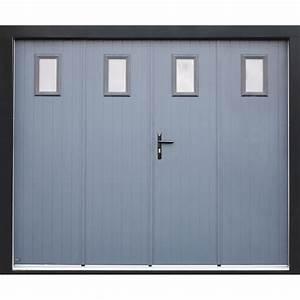 Porte de garage pliante manuelle artens essentiel 200 x for Porte de garage coulissante avec porte de garage pliante pvc