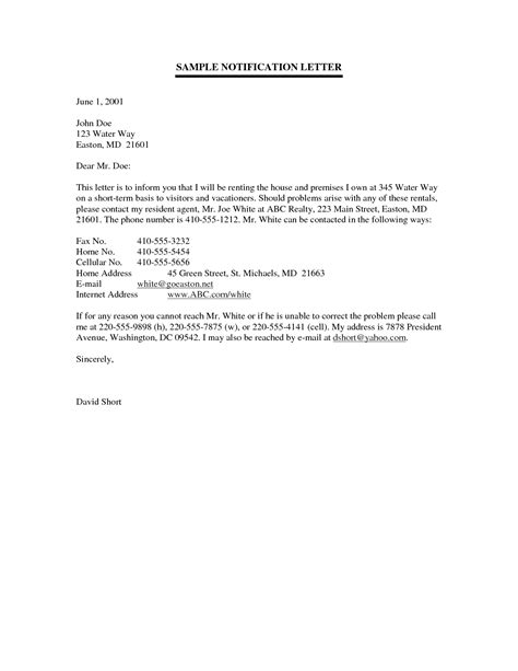 It Notification Email Template by 8 Best Images Of Sle Notification Letter For Parents