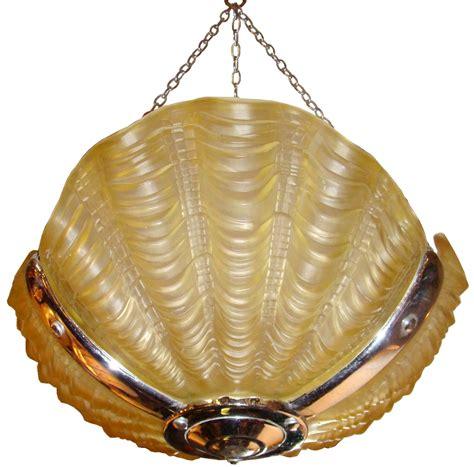 shell light fixture 1930 s deco clam shell light fixture