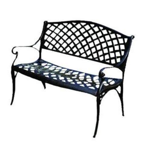 patio sense antique bronze cast aluminum patio bench 61491