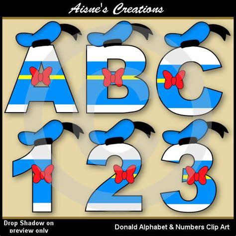 donald alphabet letters numbers clip art graphics disney letters clip art alphabet