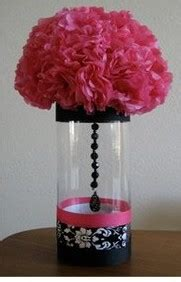 inexpensive damask centerpieces  finished