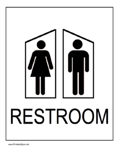 Printable Bathroom Signs by Printable S And S Restrooms Sign