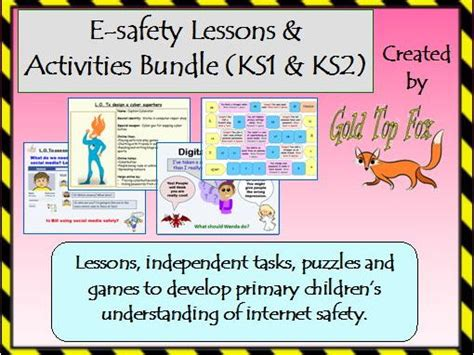 e safety lessons and activities bundle safety