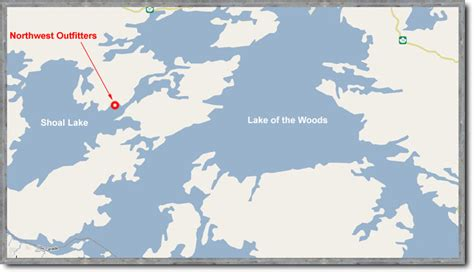 Map Of Shoal Lake & Map Of Lake Of The Woods