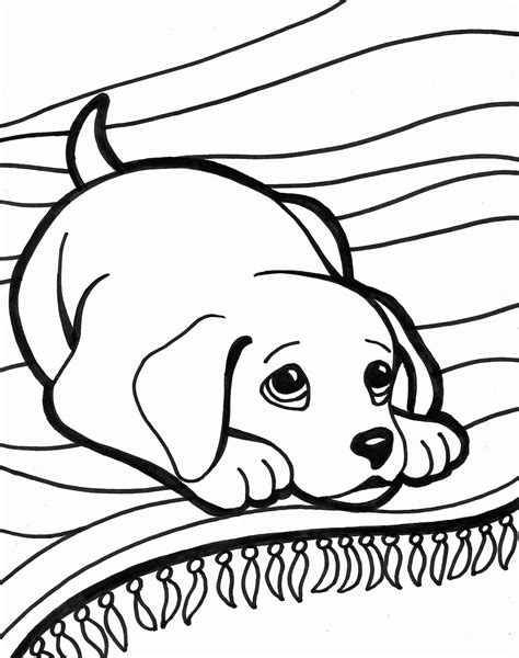 free cute dog coloring pages to print