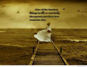 Top sad love quotes with wallpapers 2014
