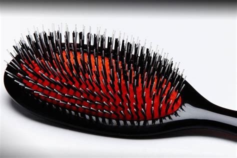 taming frizzy unruly hair  brush  straightens hair