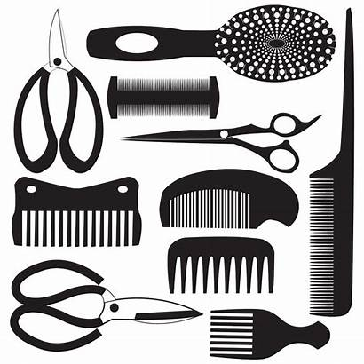 Clipart Scissors Hairdresser Tools Comb Transparent Tool