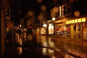 Free, Images, Road, Street, Night, Rain, Wet, Dark, Evening, Shop, Lamp, Lighting, Saint