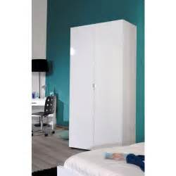 Armoire Laque Blanche by First Armoire 2 Portes Laqu 233 Blanc Achat Vente Armoire