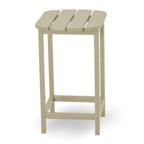 bar height side table polywood south beach counter height tall side table