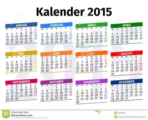 german calendar stock illustration image