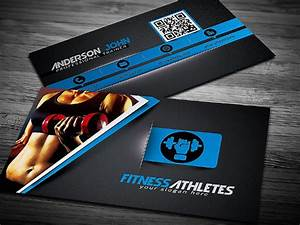 25 fitness business card templates free premium download for Fitness business card template