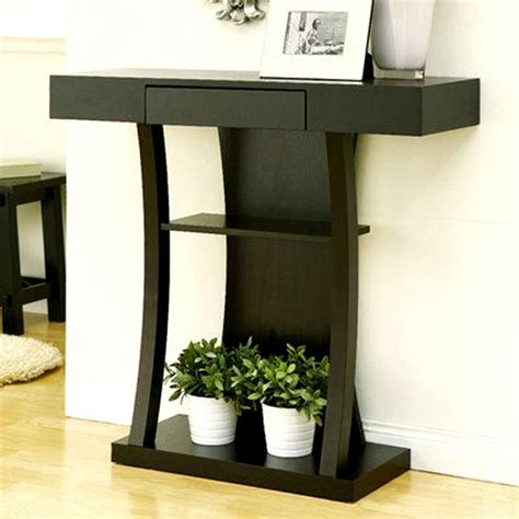 Foyer Tables With Storage by Wood Contemporary Console Table Wall Furniture Hallway