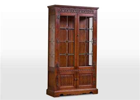 chestnut kitchen cabinets charm display cabinet wood bros 2155