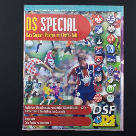 This overview shows all transfers of the 2. 2. Bundesliga 96/97 DS sticker empty album- Sticker-Worldwide