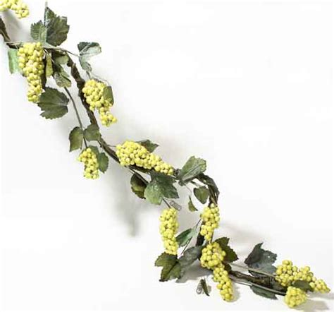 6 deluxe artificial grapevine garland with green grapes