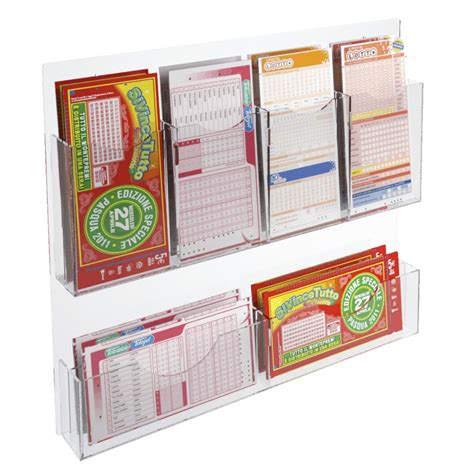 tier acrylic wall mounted bet slip card holder display
