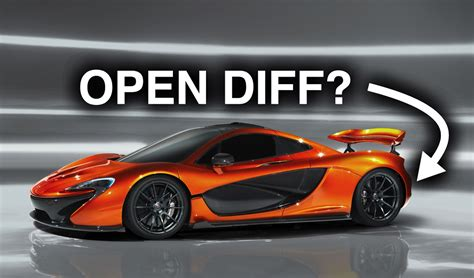 Why Does The Mclaren P1 Have An Open Differential?