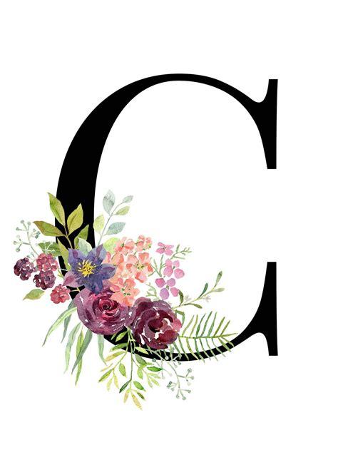 letter  floral alphabet instant digital  viking sanati sanatsal baski soyut