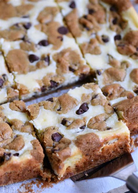 chocolate chip cookie cheesecake bars mom  timeout